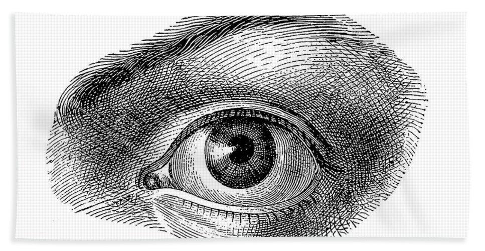Eye Bath Towel featuring the digital art Human Eye by Luisa Vallon Fumi