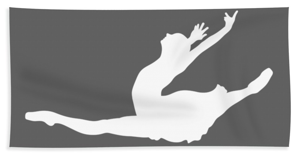 I Could Bath Towel featuring the digital art I Could Stop Ballet But I'm Not A Quitter Tee by Black Shirt