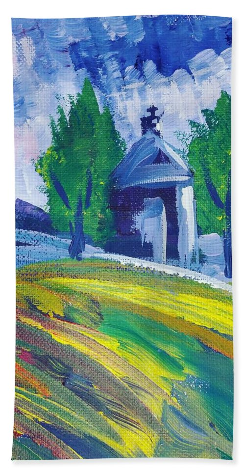 Acrylic Bath Towel featuring the painting Impression by Paola Baroni