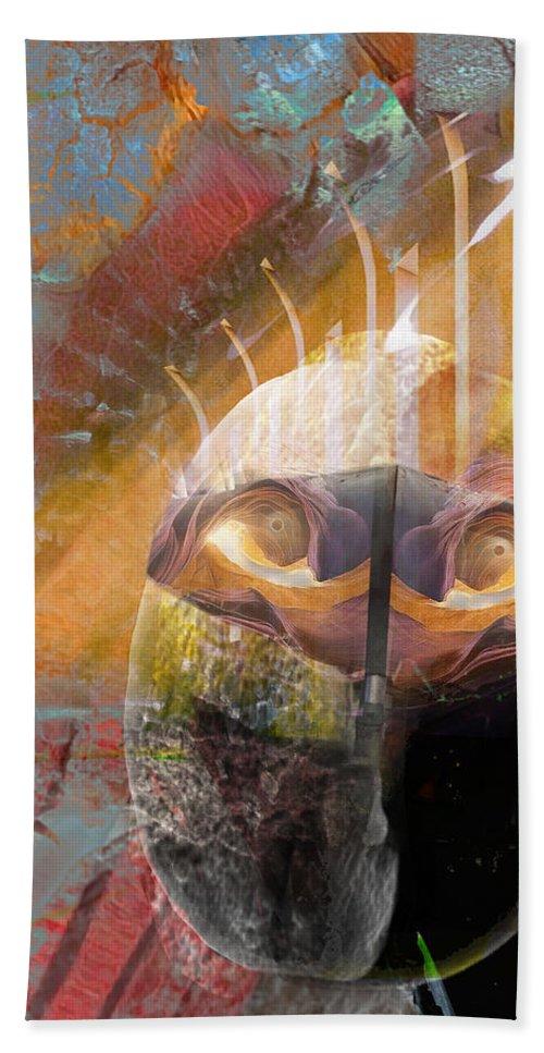 Nano Bath Sheet featuring the digital art In The Hall Of The Nano King by David Derr