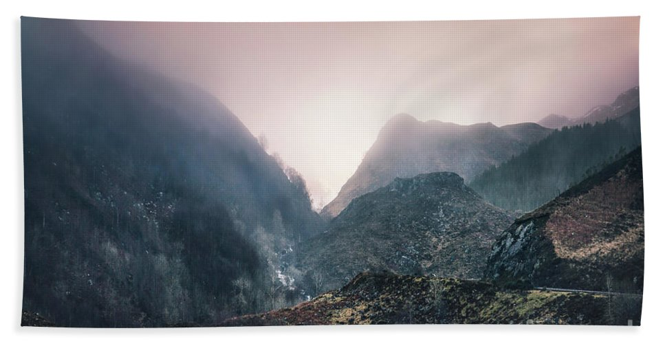 Kremsdorf Bath Towel featuring the photograph In The Mist Of The Hills by Evelina Kremsdorf