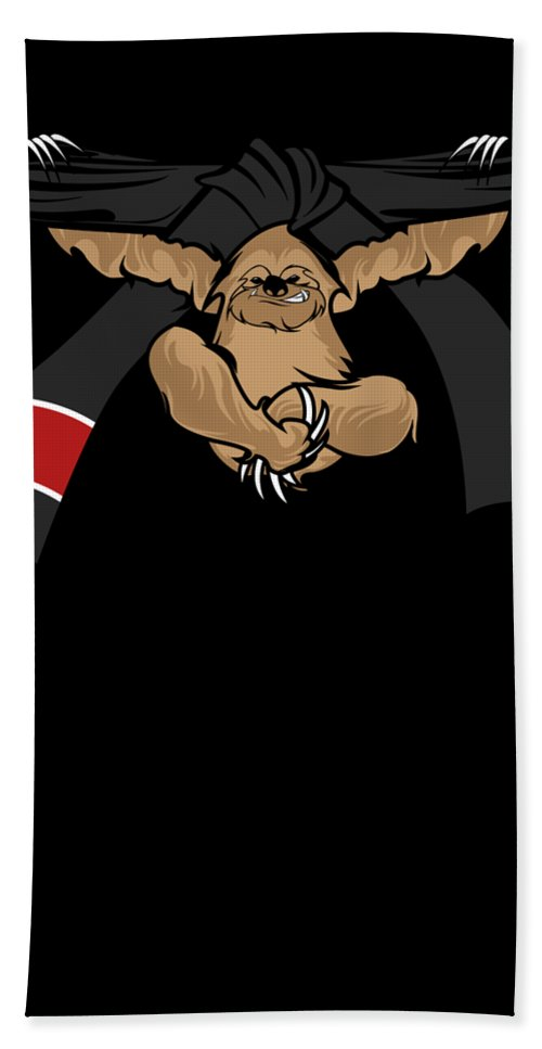 Bjj Bath Sheet featuring the digital art Jiu Jitsu Bjj Sloth Black Belt Light by J P