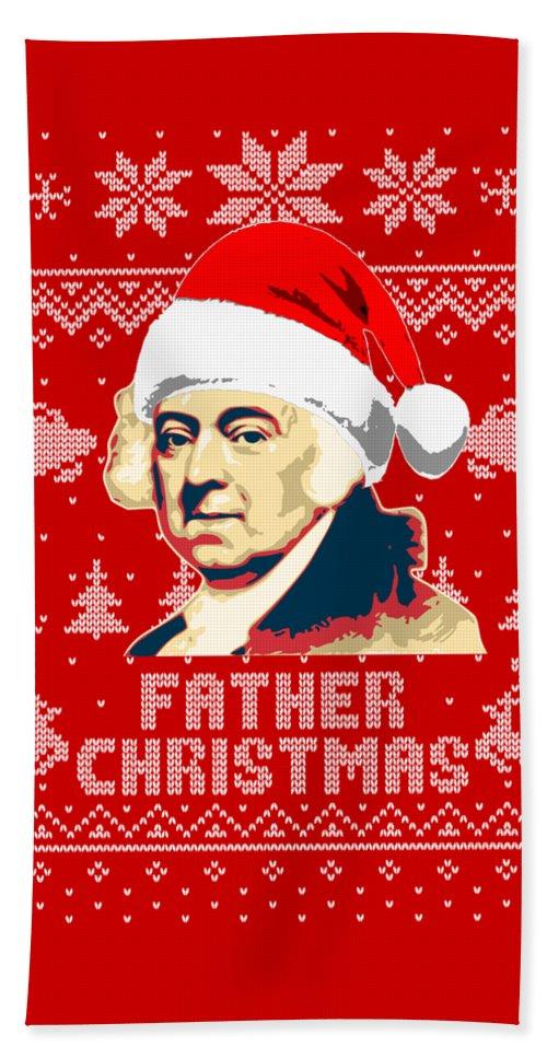 Santa Hand Towel featuring the digital art John Adams Father Christmas by Filip Hellman