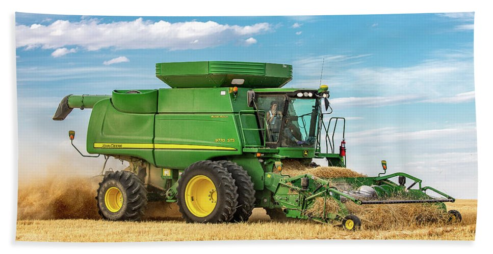 Side View Hand Towel featuring the photograph John Deere 9770 Sts by Todd Klassy