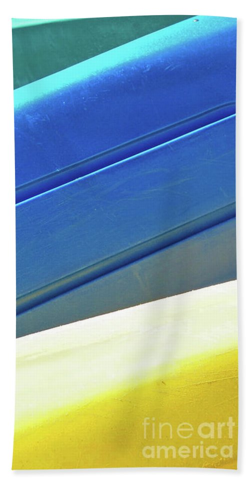 Abstract Bath Sheet featuring the photograph Kayak Angles And Colors Abstract II by Sharon Eng