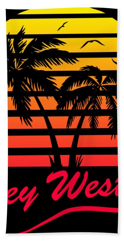 Key Bath Towel featuring the digital art Key West by Filip Schpindel