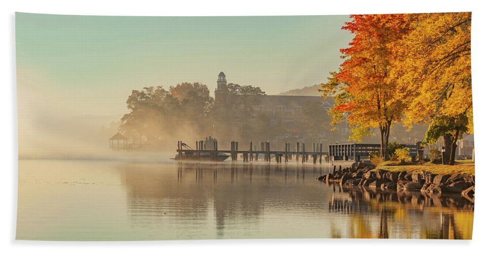 Lake Winnipesaukee Bath Towel featuring the photograph Lake Winnipesaukee Meredith New Hampshire Fall by Trevor Slauenwhite