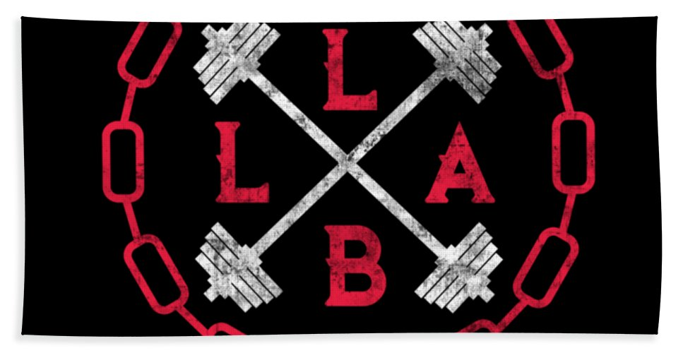 Lift-like-a-beast Bath Towel featuring the digital art Lift Like A Beast Weightlifting Powerlifting Gym by The Perfect Presents