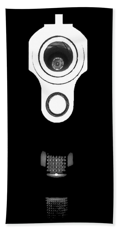 Gun Hand Towel featuring the photograph Locked And Loaded .png by Al Powell Photography USA