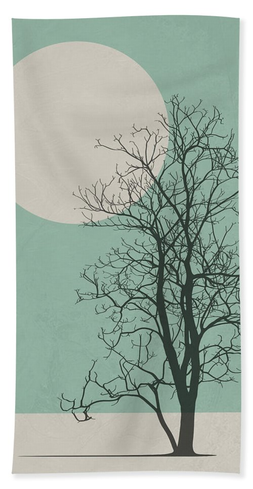 Tree Hand Towel featuring the digital art Lonely Tree II by Naxart Studio