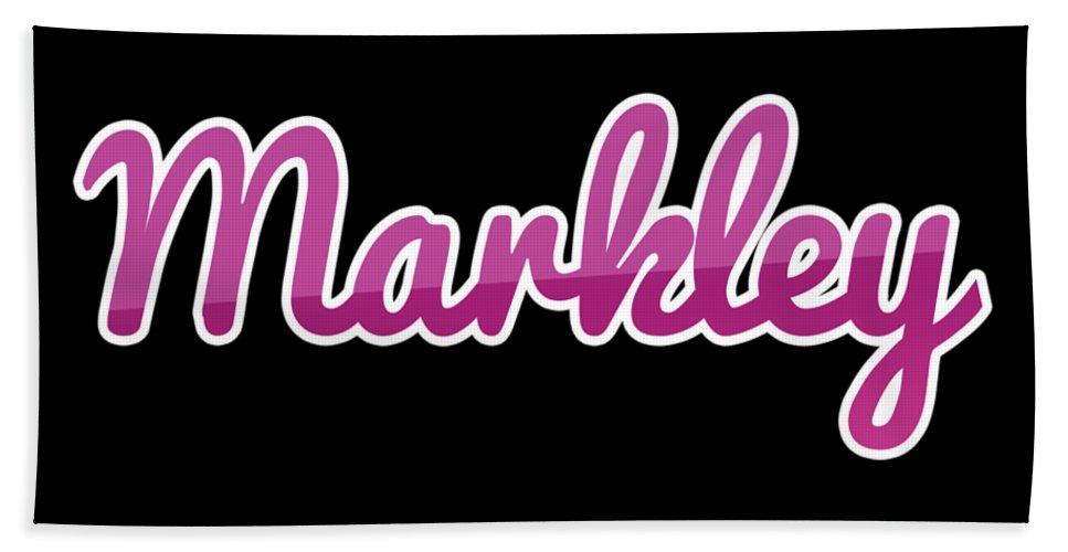 Markley Bath Towel featuring the digital art Markley #markley by TintoDesigns