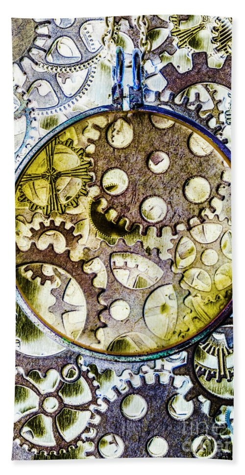 Steampunk Bath Towel featuring the photograph Monocle Machinery by Jorgo Photography - Wall Art Gallery