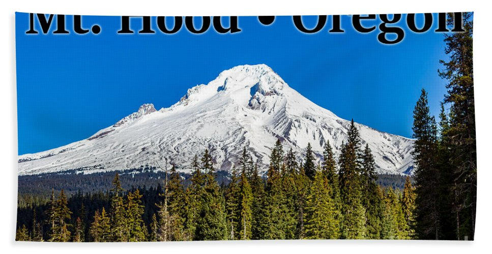 Mount Hood Bath Towel featuring the photograph Mount Hood Oregon In Winter 02 by G Matthew Laughton