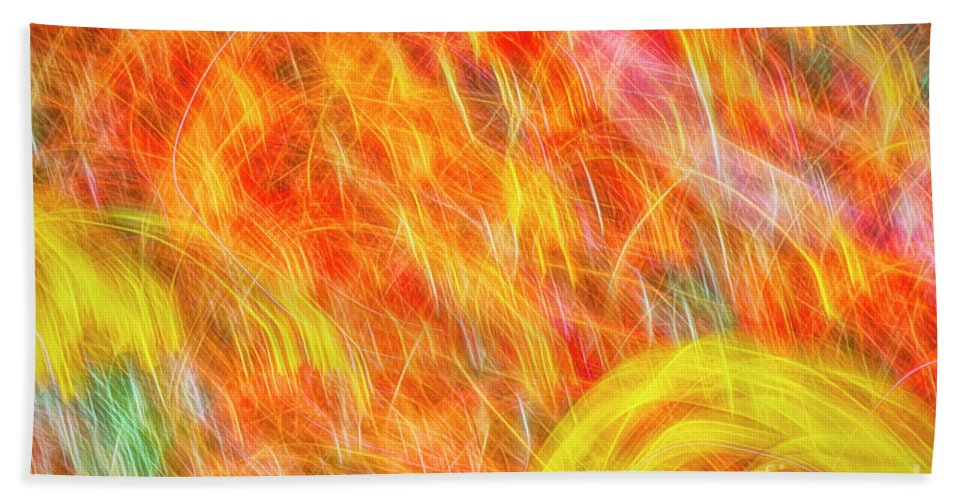 Abstract Hand Towel featuring the photograph Movement 8 by Veikko Suikkanen