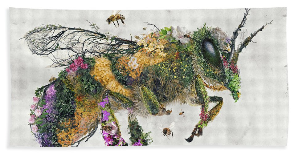 Honey Bees Hand Towel featuring the digital art Must be the honey by Barrett Biggers