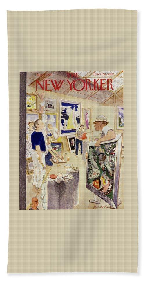New Yorker August 11, 1951 Bath Sheet