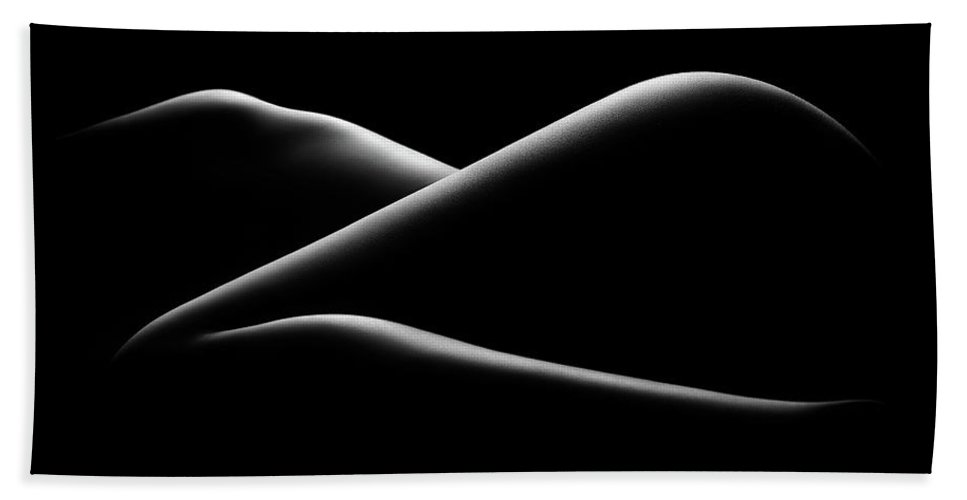 Woman Hand Towel featuring the photograph Nude woman bodyscape 17 by Johan Swanepoel