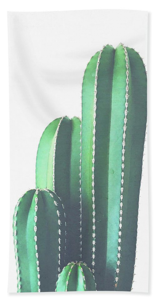 Cactus Bath Towel featuring the photograph Organ Pipe Cactus by Cassia Beck