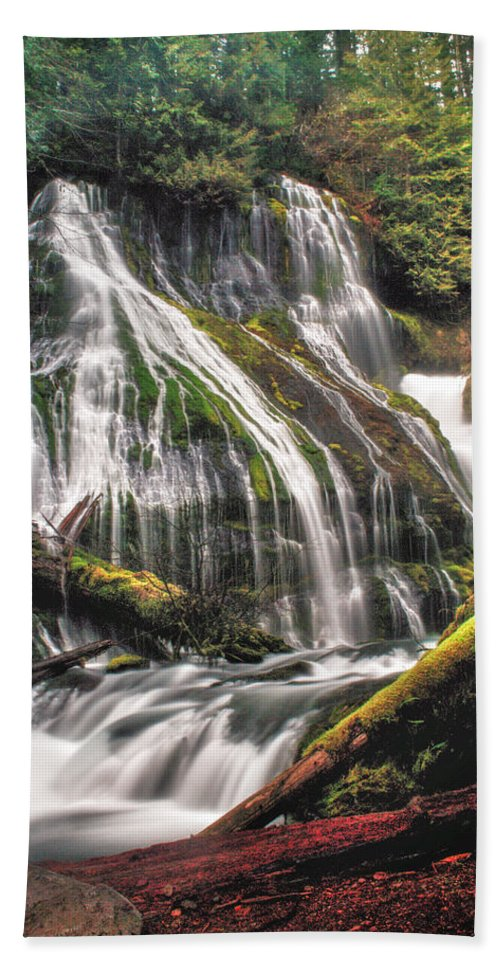 Waterfall Bath Towel featuring the photograph Panther Creek by Gene Graff