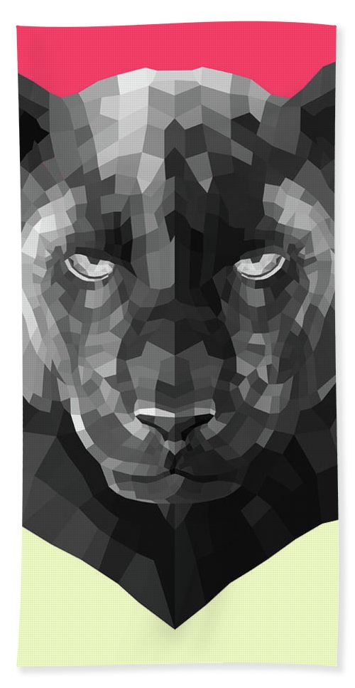Bath Towel featuring the digital art Party Panther by Naxart Studio