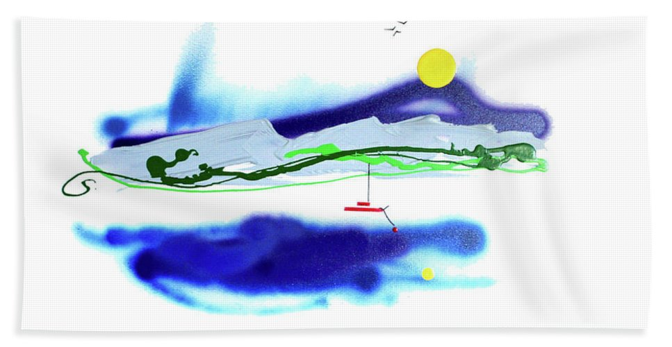Mother Nature Love Bath Towel featuring the painting Peace And Light by Dick Buckley