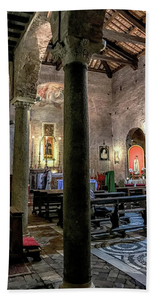 Chiesa Di San Benedetto In Piscinula Hand Towel featuring the photograph Piscinula by Joseph Yarbrough