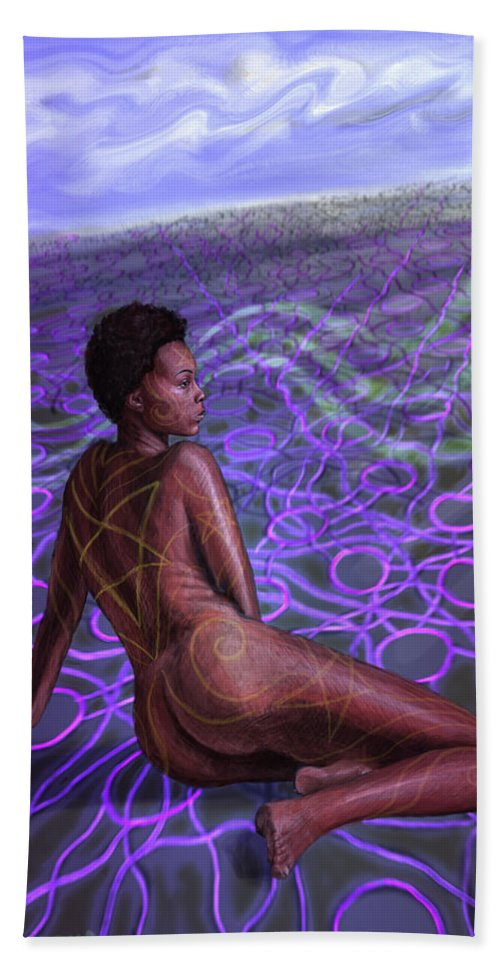 Digital Art Bath Towel featuring the painting Plane by Jeremy Robinson