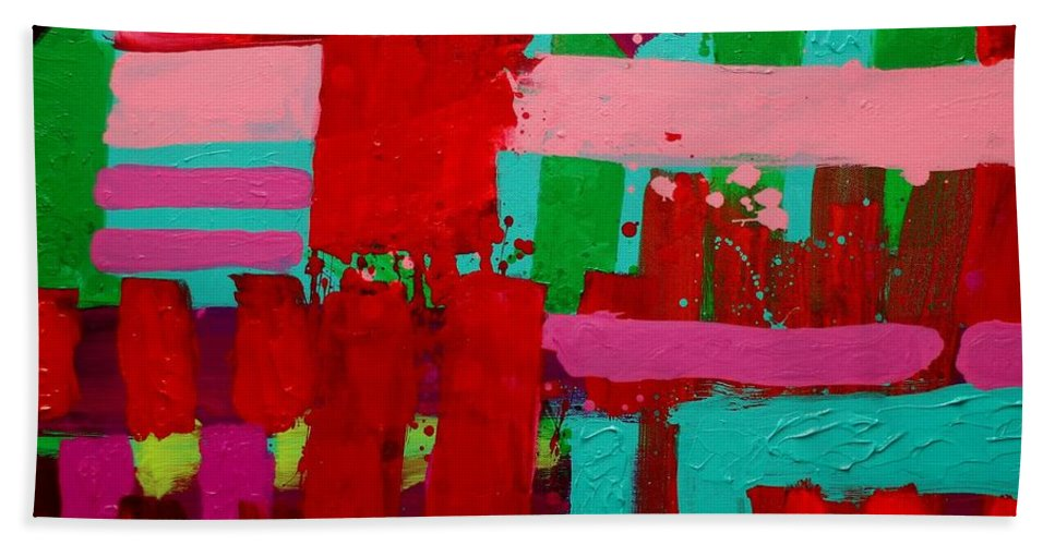 Stract Bath Towel featuring the painting Poetry In Motion by John Nolan