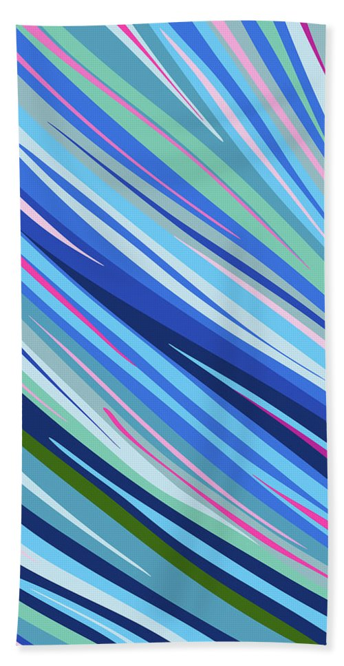 Nonobjective Bath Towel featuring the digital art Post-medicated Calm #1 by James Fryer
