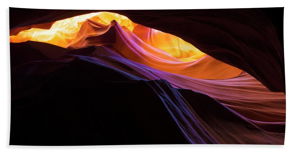 Rainbow Canyon Bath Towel featuring the photograph Rainbow Canyon by Chad Dutson