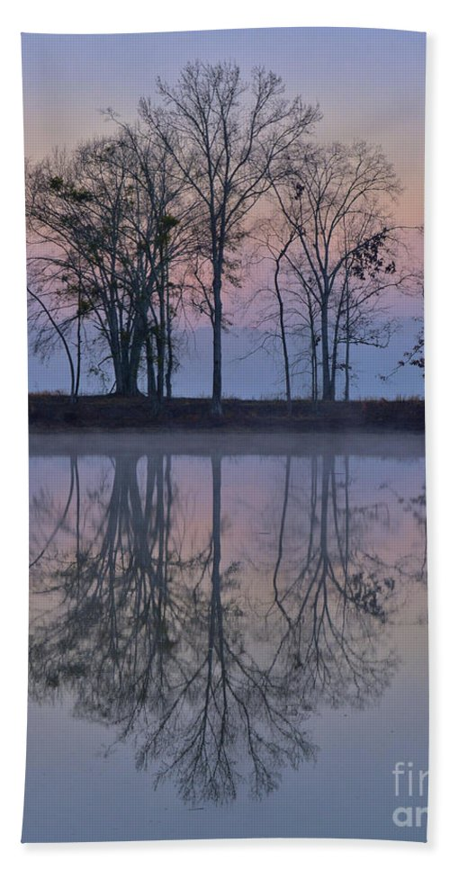 Alabama Bath Towel featuring the photograph Reflections On The Lake by Ken Johnson