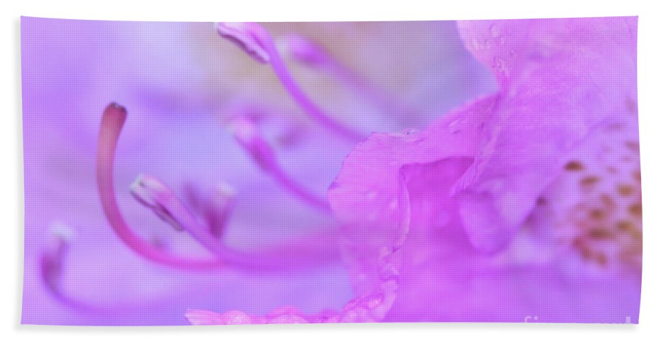 Rhododendron Hand Towel featuring the photograph Rhododendron Macro by Kerri Farley