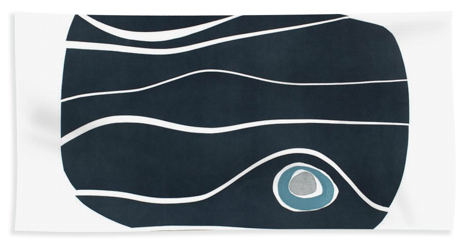 Abstract Bath Towel featuring the painting River Stones IIi by Rob Delamater