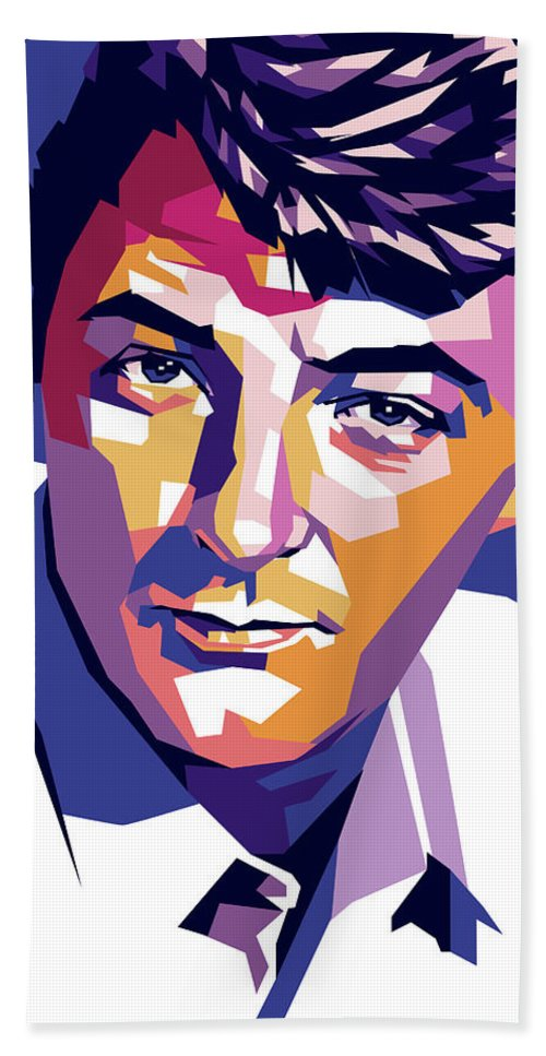 Robert Bath Towel featuring the digital art Robert Mitchum by Stars on Art