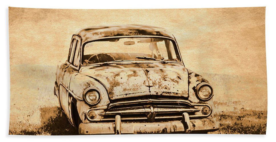 Old Bath Towel featuring the photograph Rockabilly Relic by Jorgo Photography - Wall Art Gallery