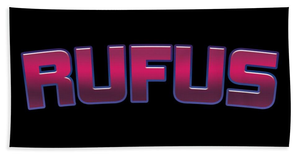 Rufus Bath Towel featuring the digital art Rufus #rufus by TintoDesigns