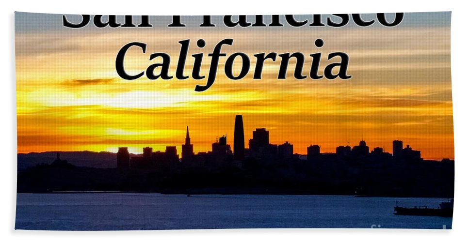 San Francisco Bath Towel featuring the photograph San Francisco Sunrise 2x3 by G Matthew Laughton