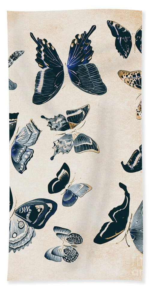 Antique Bath Towel featuring the photograph Scrapbook Butterflies by Jorgo Photography - Wall Art Gallery