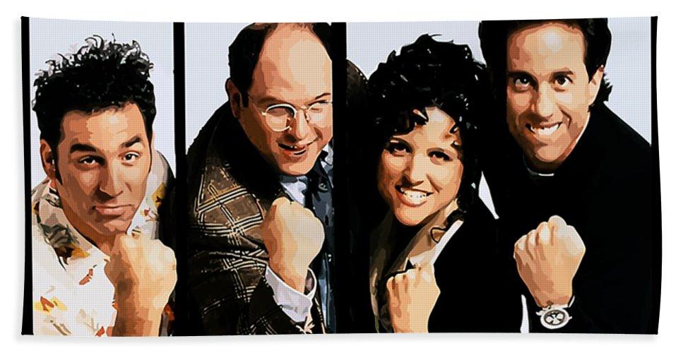 Death Bath Sheet featuring the digital art Seinfeldblackflag by Felix Price