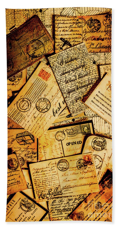 Antique Bath Towel featuring the photograph Sentimental Writings by Jorgo Photography - Wall Art Gallery
