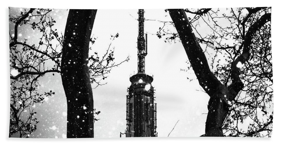 Snow Bath Towel featuring the digital art Snow Collection Set 07 by Az Jackson