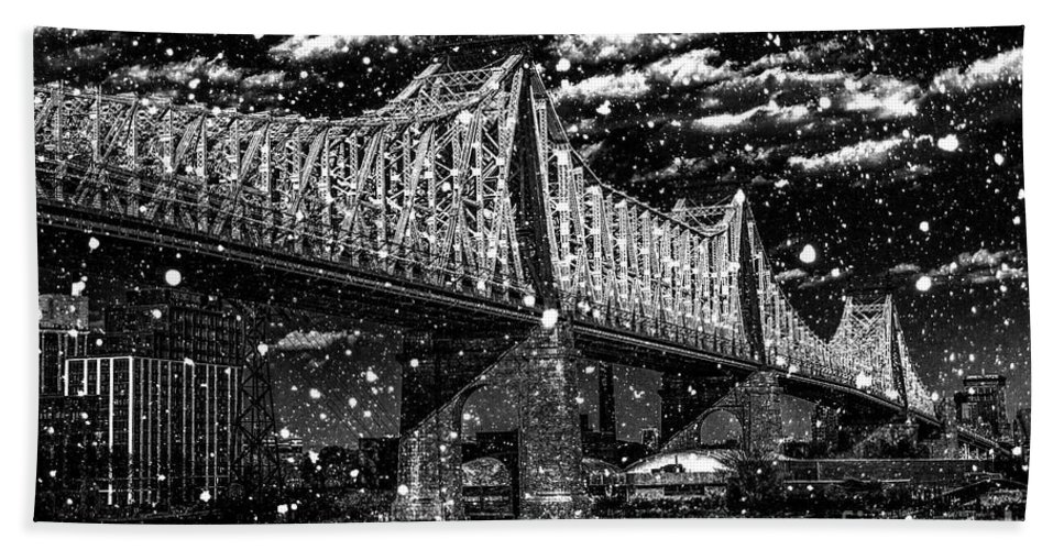 Bath Towel featuring the digital art Snow Collection Set 10 by Az Jackson
