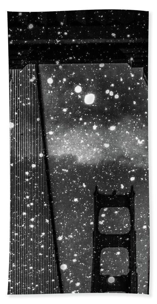 Snow Bath Towel featuring the digital art Snow Collection Set 12 by Az Jackson