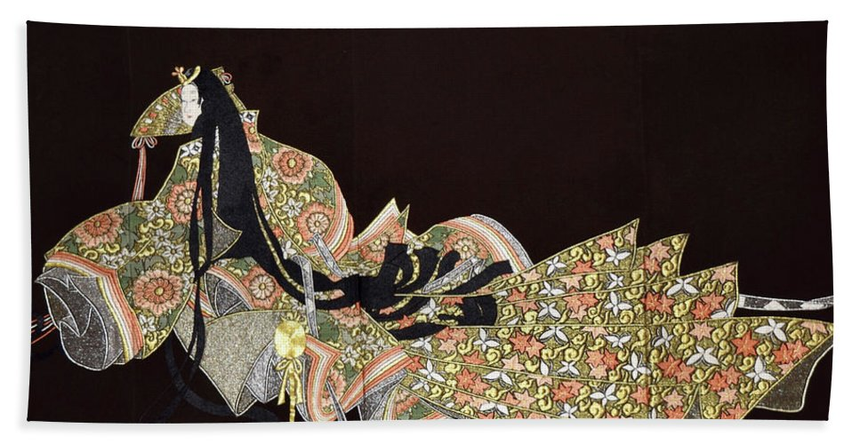 Bath Towel featuring the tapestry - textile Spirit of Japan T91 by Miho Kanamori