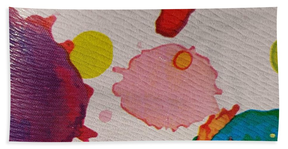 Acrylic Bath Towel featuring the photograph Spotted Surface by Paola Baroni