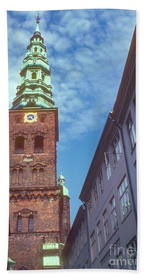 St. Nikolai Church Tower Hand Towel featuring the photograph St. Nikolai Church Tower by Bob Phillips