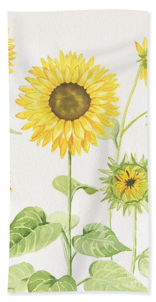 Sunflowers Garden Bath Towel For Sale By Melly Terpening