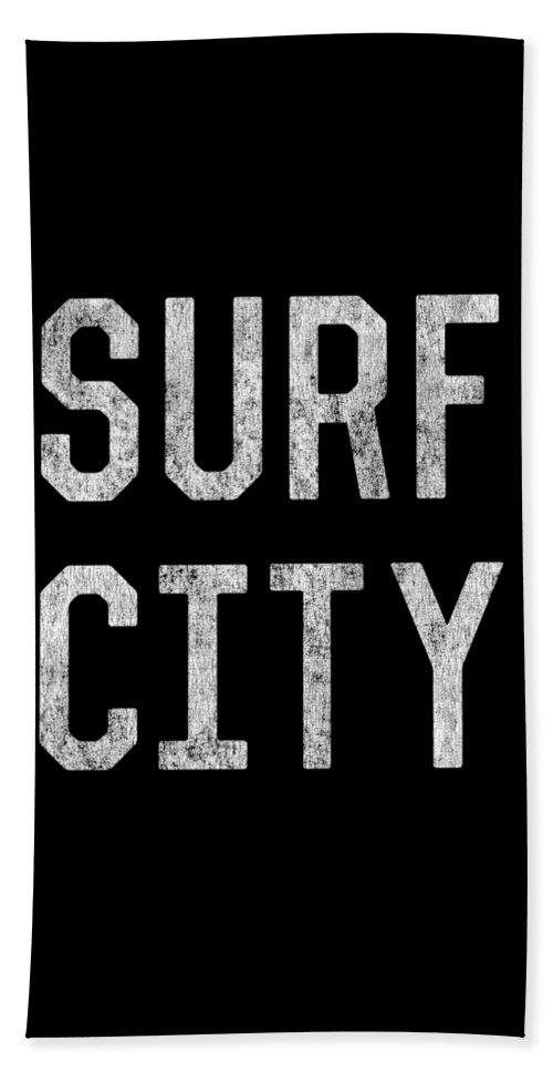 Cool Bath Sheet featuring the digital art Surf City by Flippin Sweet Gear