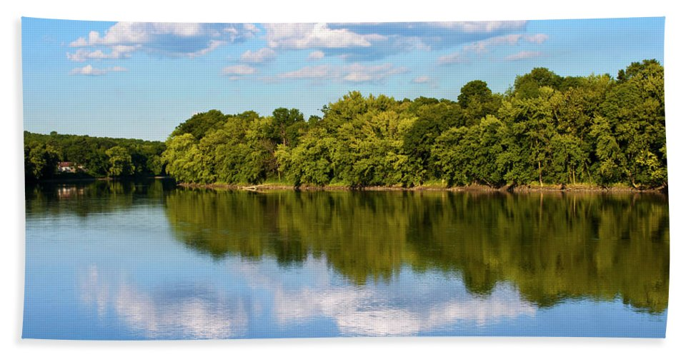 Susquehanna River Hand Towel featuring the photograph Susquehanna River by Christina Rollo
