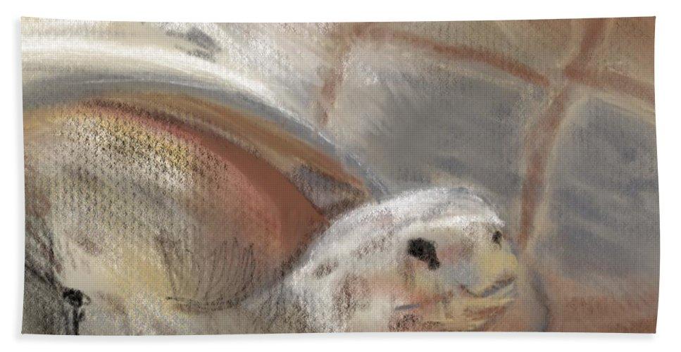 Tortoise Bath Towel featuring the digital art Sweet Tortoise by Fe Jones